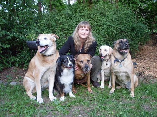 Trish and Five Dogs